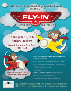 Eastern Carolina Aviation Heritage Foundation announces their 2014 Fly-In Movie and Family Night